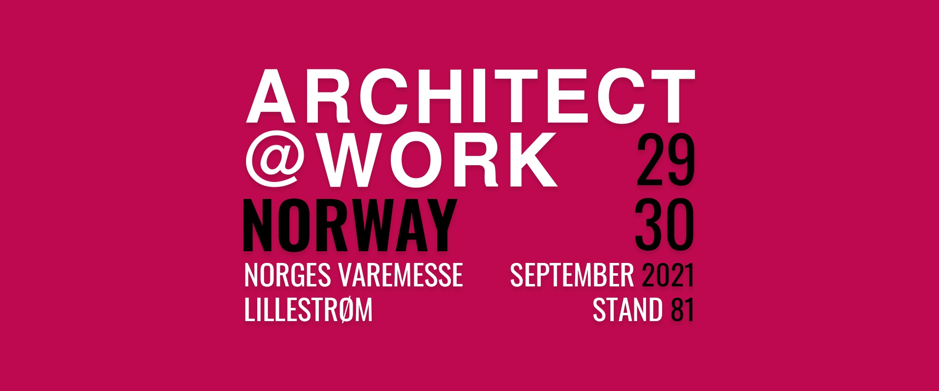 Architect@Work 2021 in Norway - 29-30 September