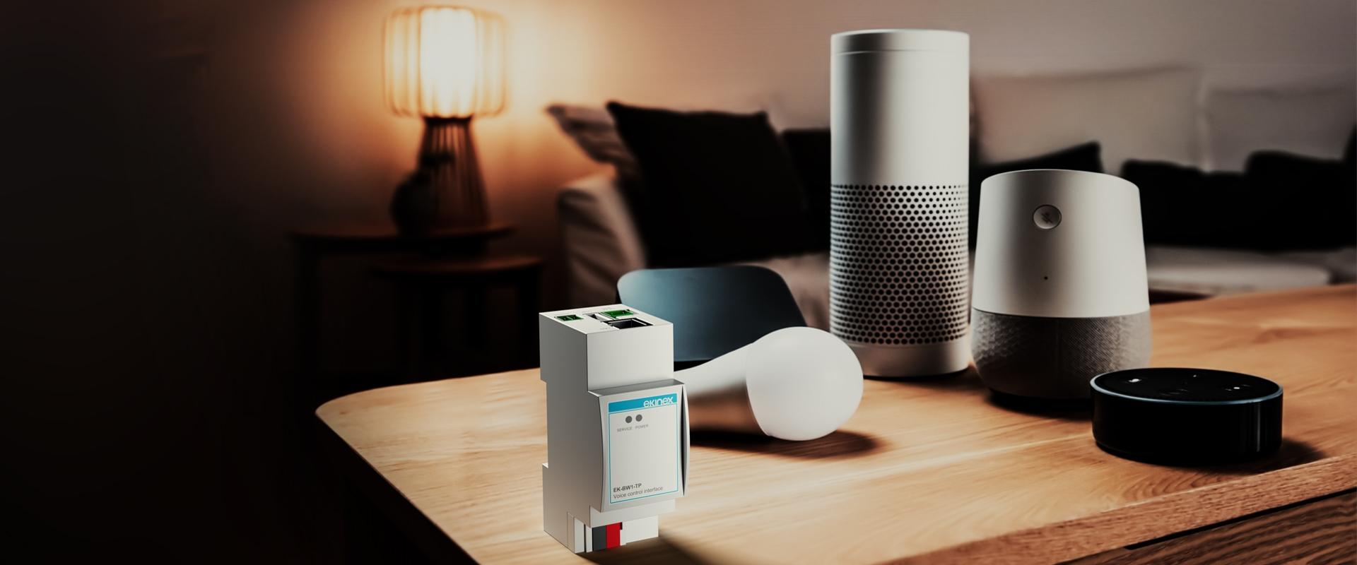Nuova interfaccia EK-BW1-TP per collegare gli home speaker ad un impianto KNX