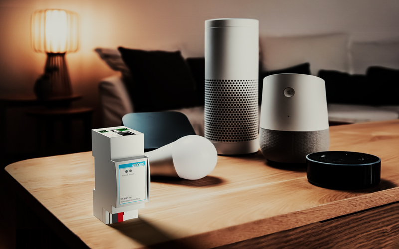 New interface EK-BW1-TP for connecting home speakers to a KNX system