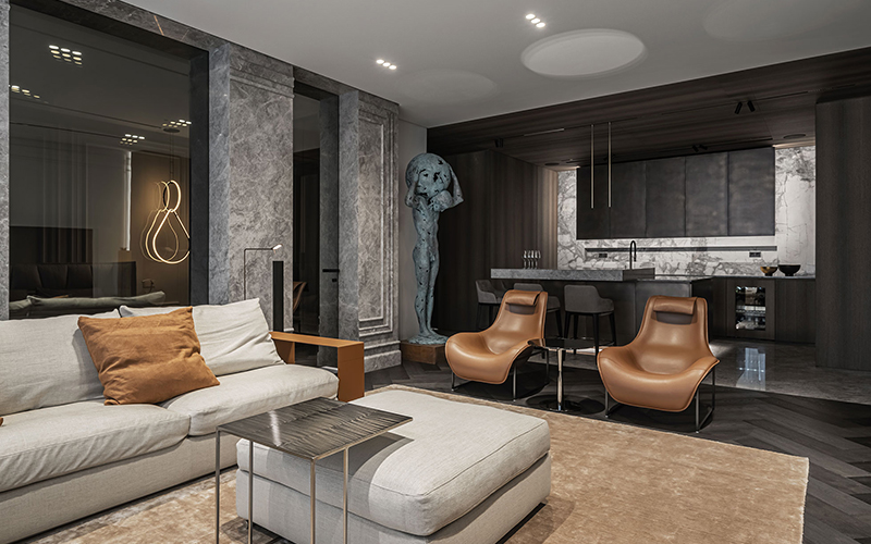 A New Display of Male Interior in The Colossus Apartment Project