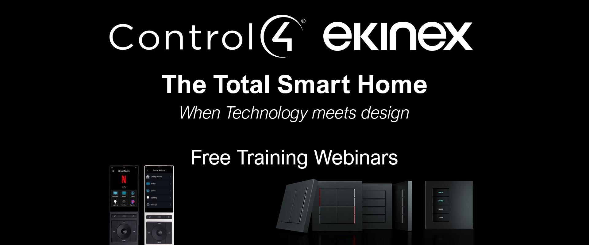 Webinar Ekinex + Control4 - The Total Smart Home - Febbraio 2021