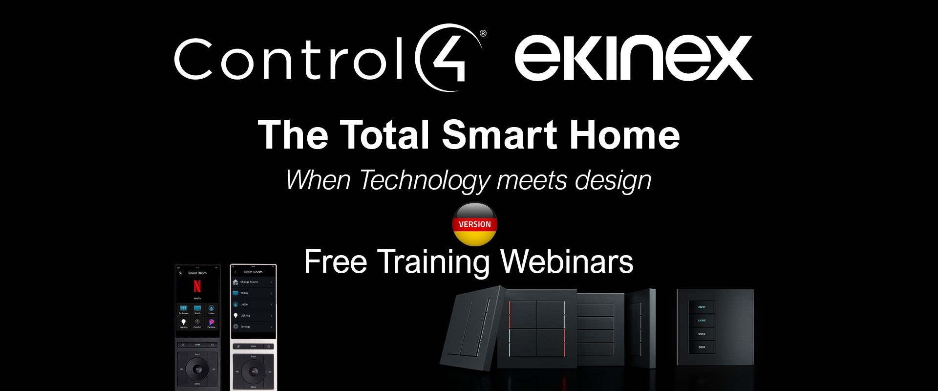 Webinar Ekinex + Control4 - The Total Smart Home - Janvier 2021