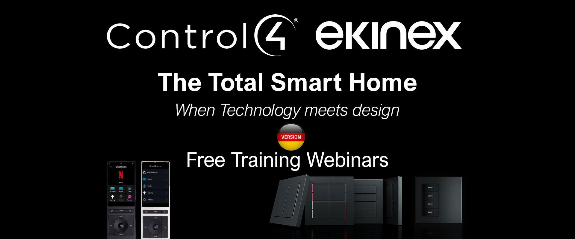 Webinar Ekinex + Control4 - The Total Smart Home - Januar 2021