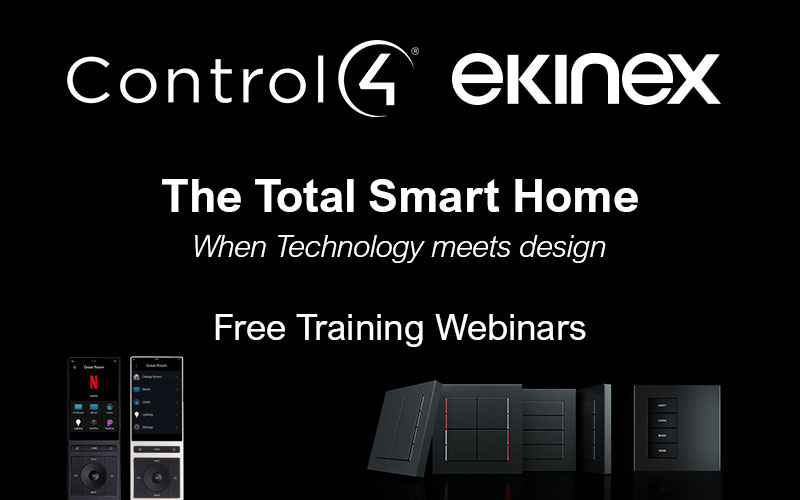 Webinar Ekinex + Control4 - The Total Smart Home - Février 2021