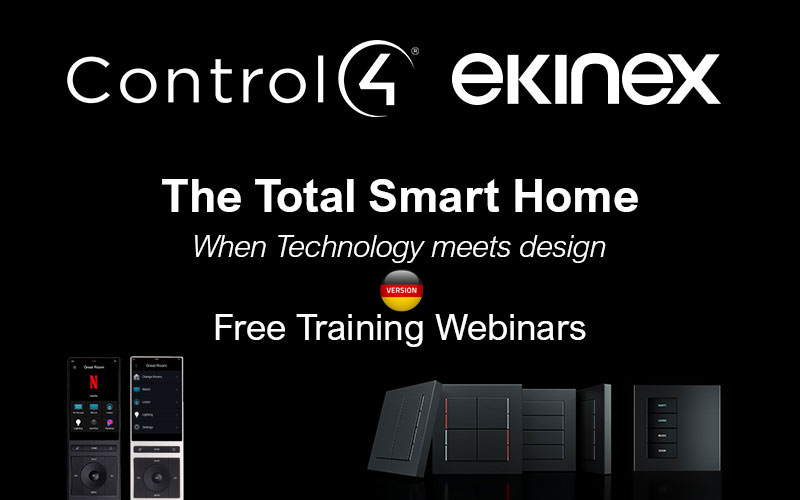 Webinar Ekinex + Control4 - The Total Smart Home - Januar 2021