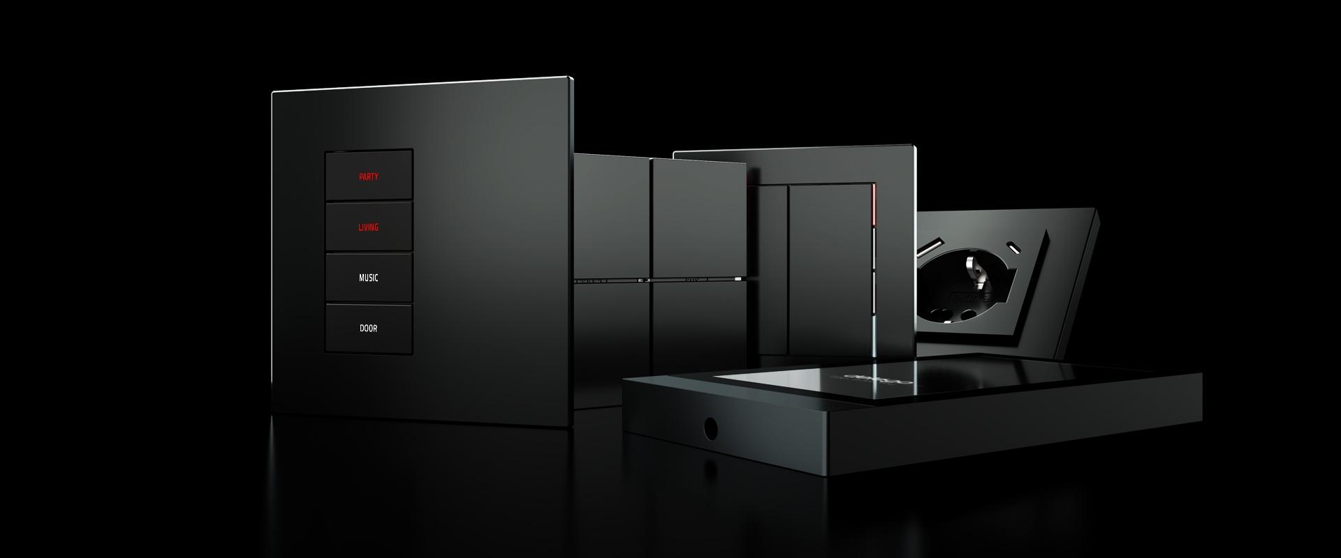 Welcome black: scopri la nostra nuova finitura per i comandi a parete KNX