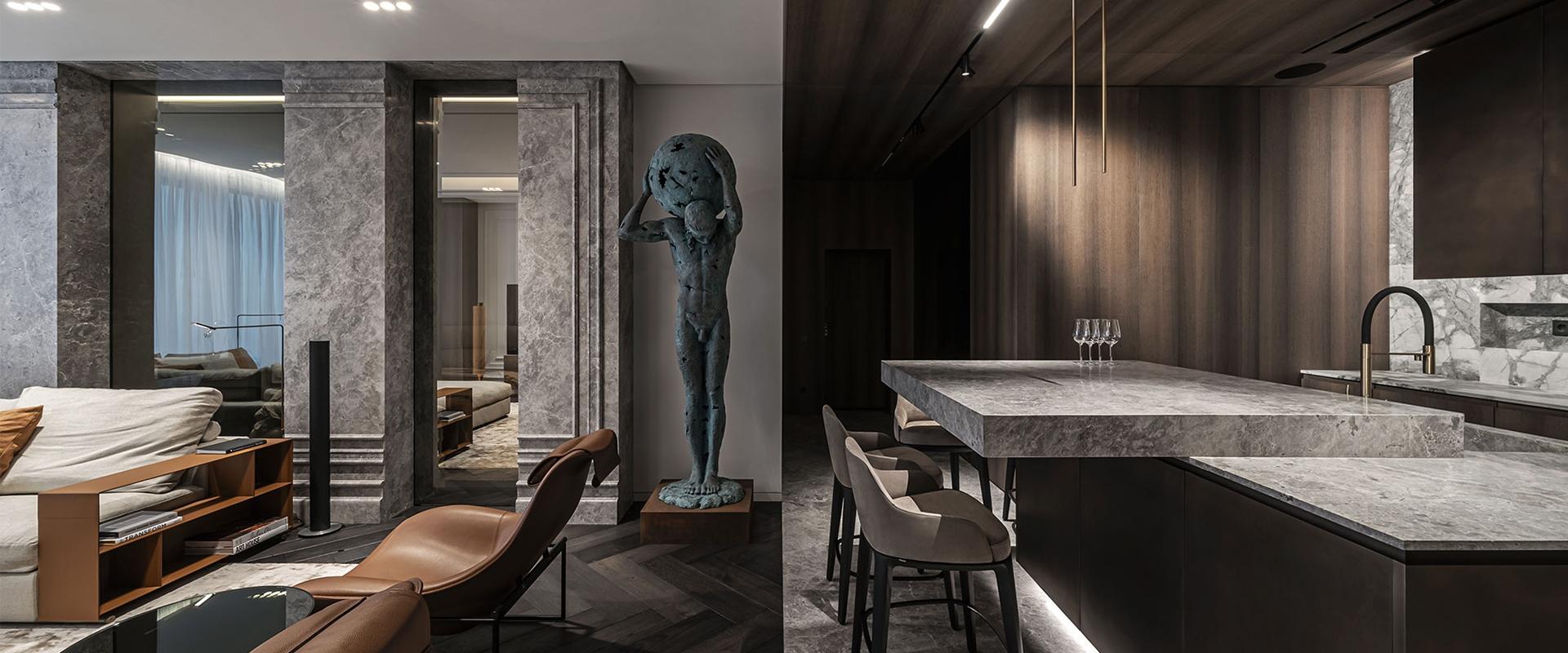 The Colossus Apartment: un progetto di interior design su misura per un giovane uomo in carriera