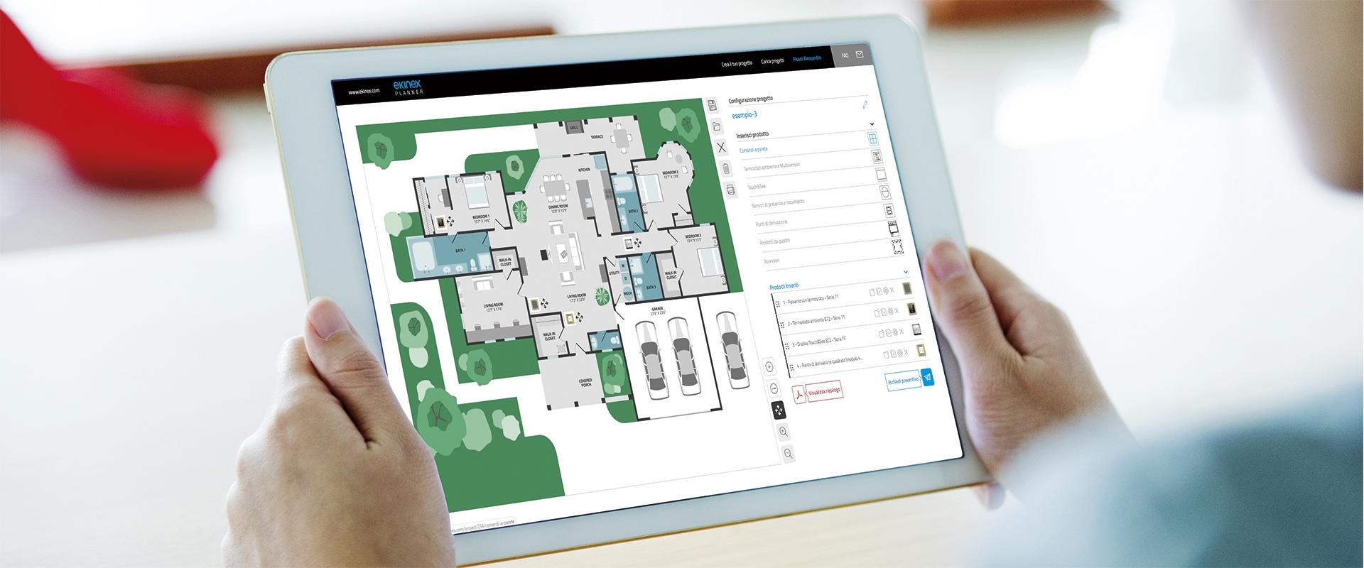 Strumenti di progettazione Ekinex: nuovo Planner 4.0