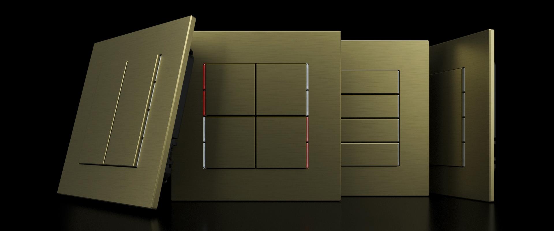 Surface: Design und Technologie KNX mit einer Dicke von 3 mm