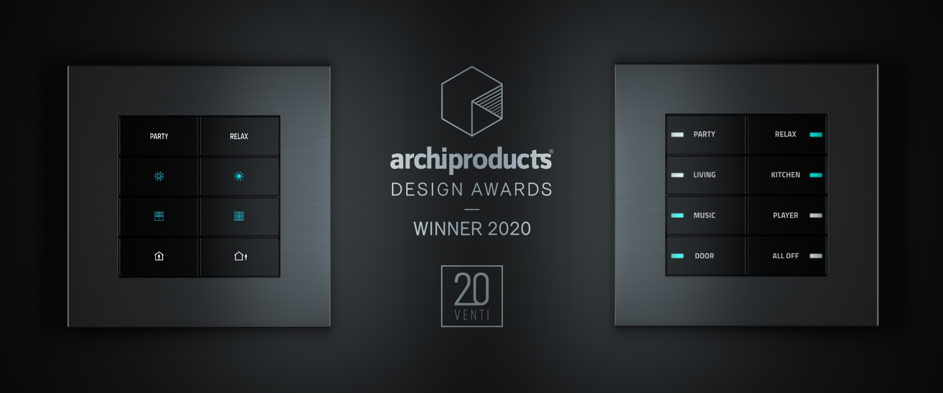 The 20VENTI series in its Surface version was awarded the Archiproducts Design Awards 2020