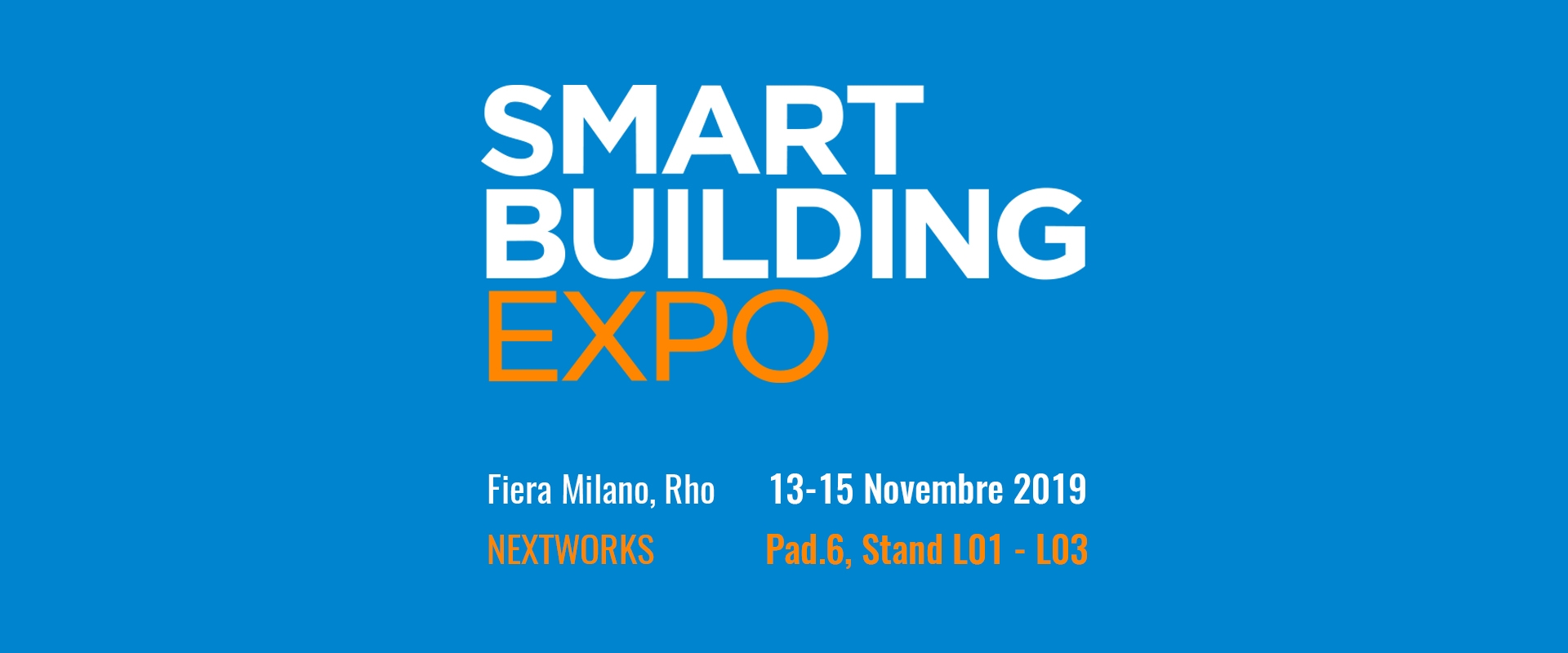 Smart Building Expo 2019 – Milano 13-15 novembre