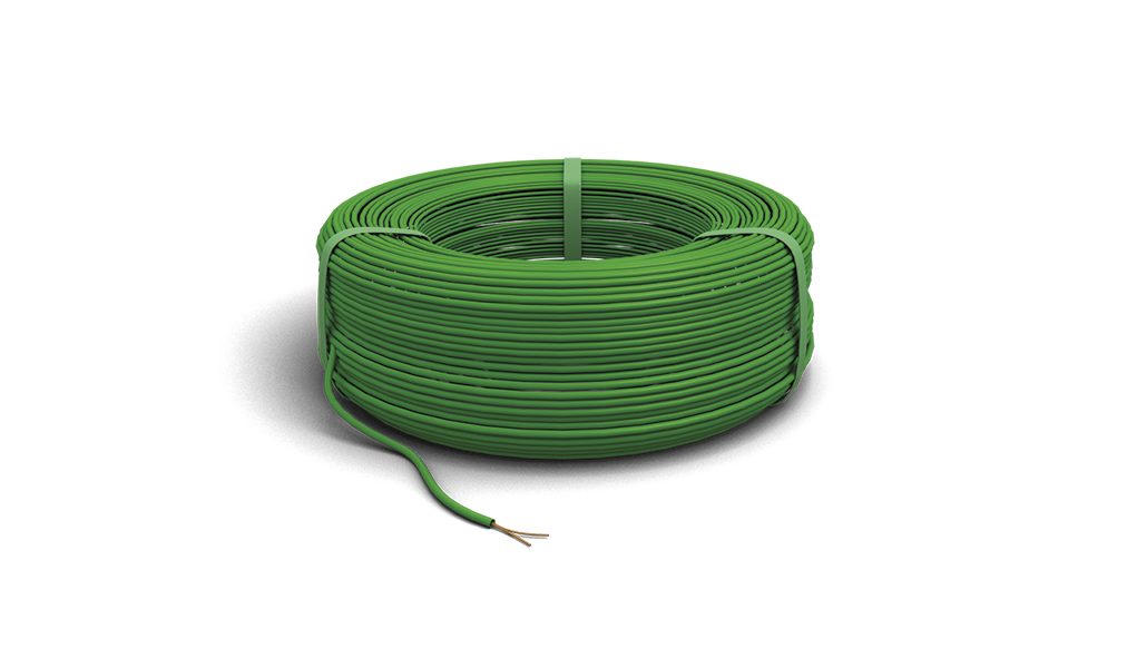 Lines Eib 8mm2 PVC Cu Green 81663 Datenbus-Kabel For Curved Knx Wire 2x2x0